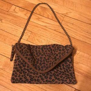 J.CREW leopard print shoulder bag